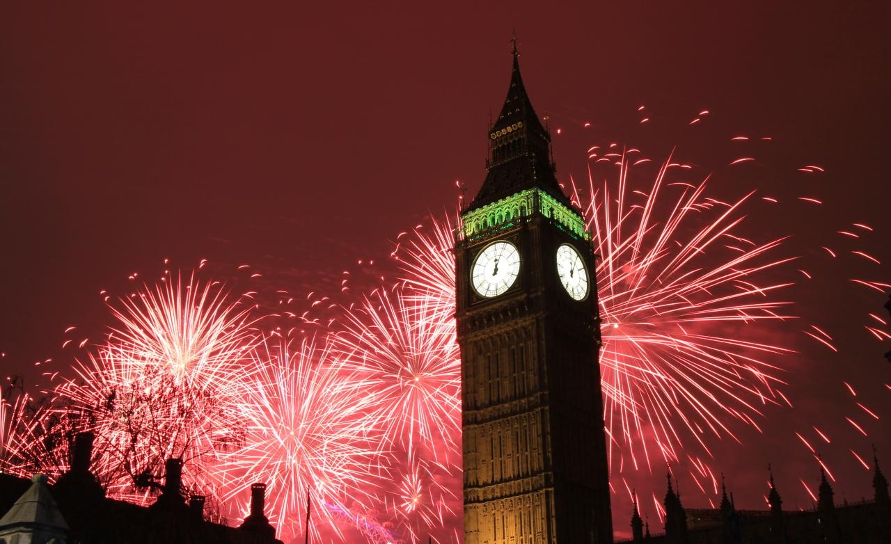 London New Year Fireworks 003
